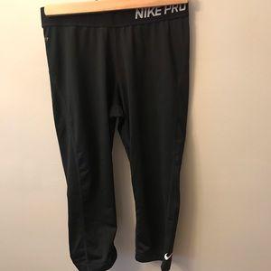 Nike pro crop leggings (right below the knee)